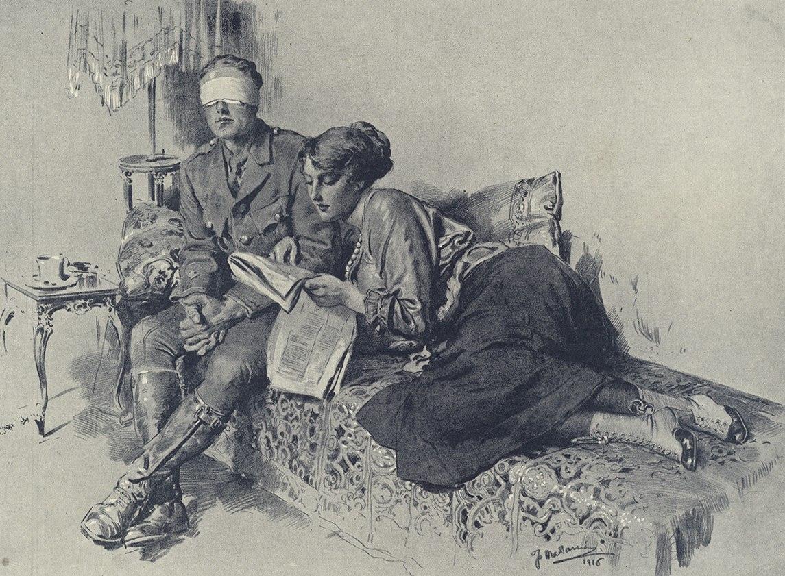 """""""Его вторые глаза """" Фортунино Матаниа, 1916г"""