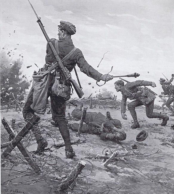 """""""Британские гренадеры за работой"""" Фортунино Матаниа, 1914г"""