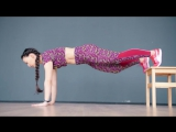 Упражнения для дома. Тренировка со стулом.