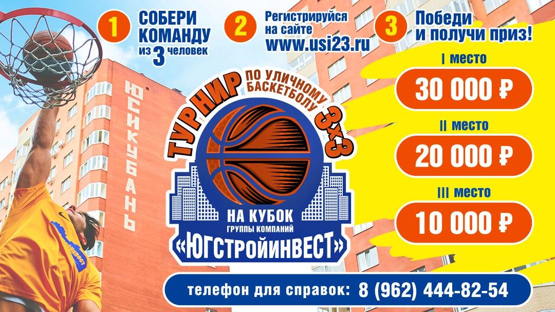 Турнир по баскетболу 3х3 в Краснодаре