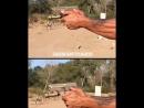 Правильное положение рук при стрельбе из пистолета!