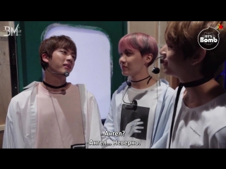 [RUS SUB][BANGTAN BOMB] Jins Q&A time @ M countdown comeback stage of Spring Day