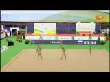 Сборная России (групповые) - 3 мяча + 2 скакалки (многоборье) // World Challange Cup 2017, Гвадалахара