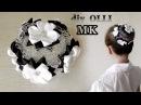 DIY СЕТОЧКА для гульки с цветами Канзаши BACK TO SCHOOL Flores de cintas Flores de fitas