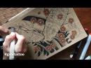 How I draw Koifish. Рисование эскизов тату