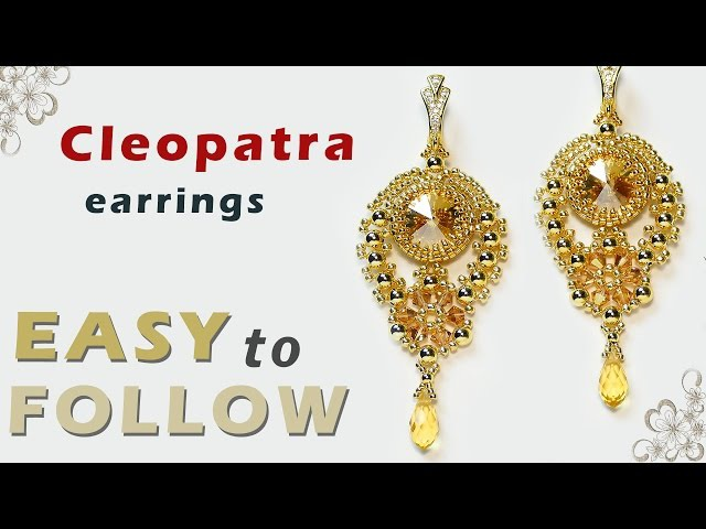 How to make jewelry Cleopatra earrings and pendant