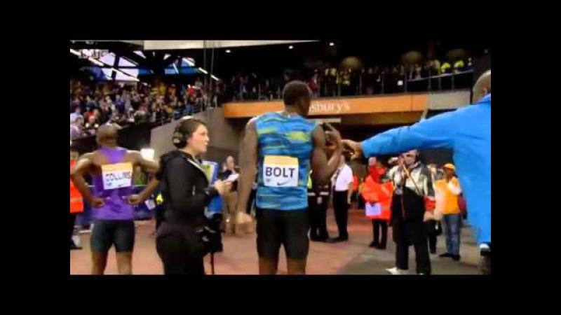 Men's 100m Usain Bolt 9.87 Diamond League London 2015