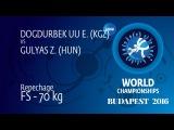 Repechage FS - 70 kg: E. DOGDURBEK UU (KGZ) df. Z. GULYAS (HUN), 5-4