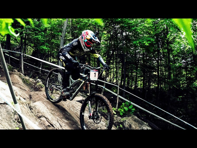 Can You Watch this POV Ride w/o Getting Dizzy? | Myriam Nicole UCI Mountainbike Downhill WC Canada