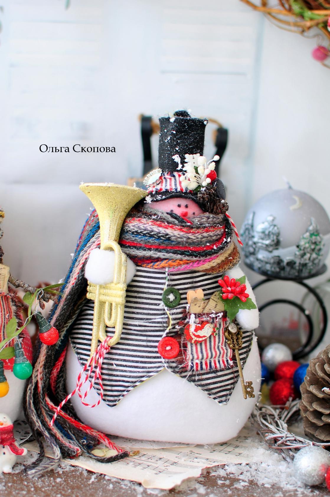 снеговики Ольги скоповой