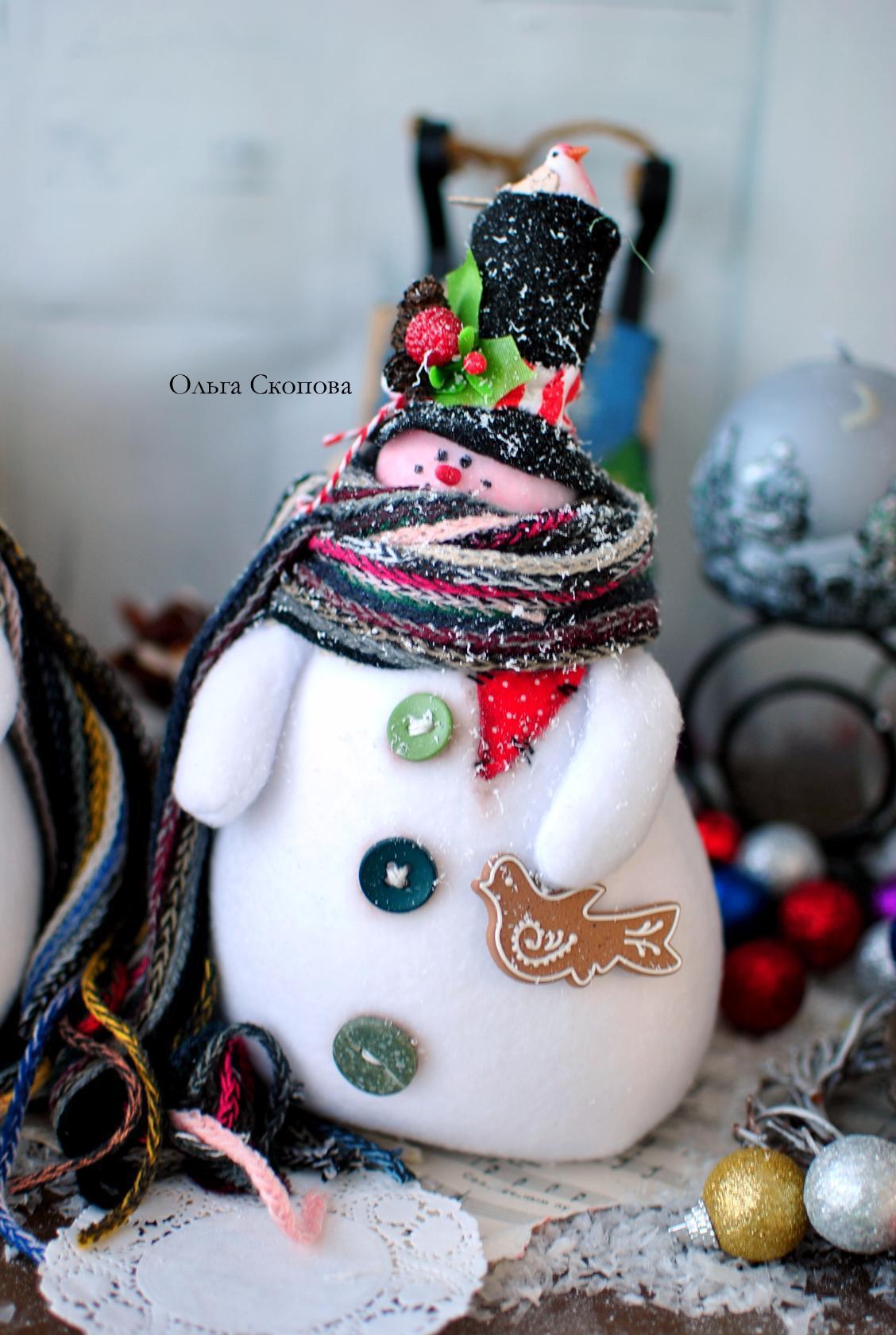 тильда снеговик от ольги скоповой