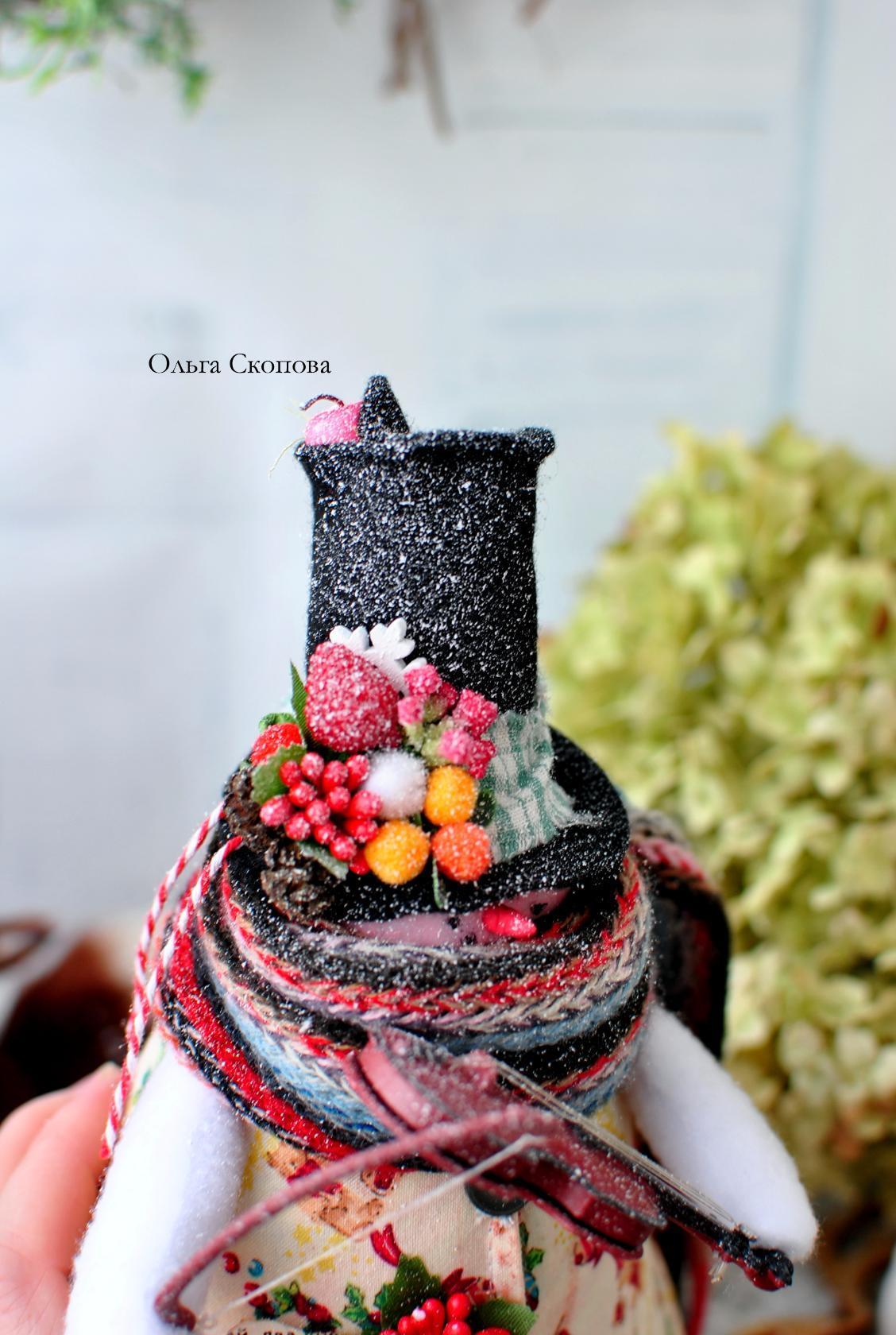 шапка снеговика