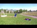 Броски тенисного мячика на дальность и точность.
