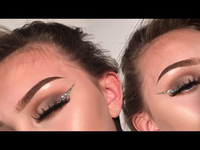 Holographic GLITTER LINER ombre eyeshadow tutorial