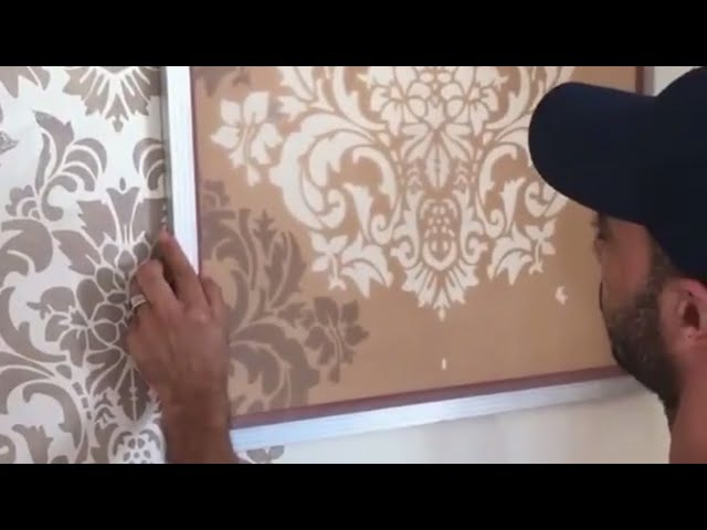 Damasco style handmade wallpaper with Mold Paint Prestige