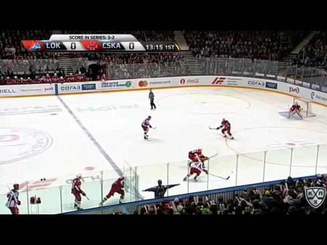 Моменты из матчей КХЛ сезона 16/17 • Гол. 1:0. Красковский Павел (Локомотив) открывает счет матча 18.03