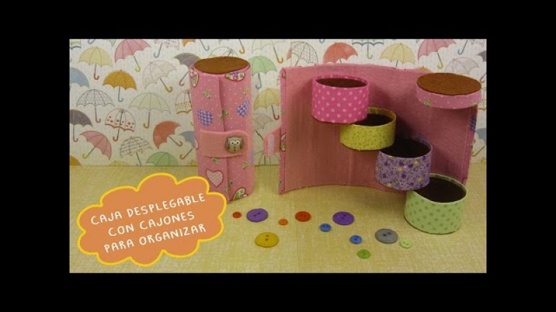 Caja Desplegable con Cajones para Organizar