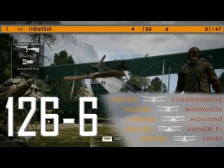 Battlefield 1: 126-6 | Attack plane on Monte grappa - Operation (keyboard control)