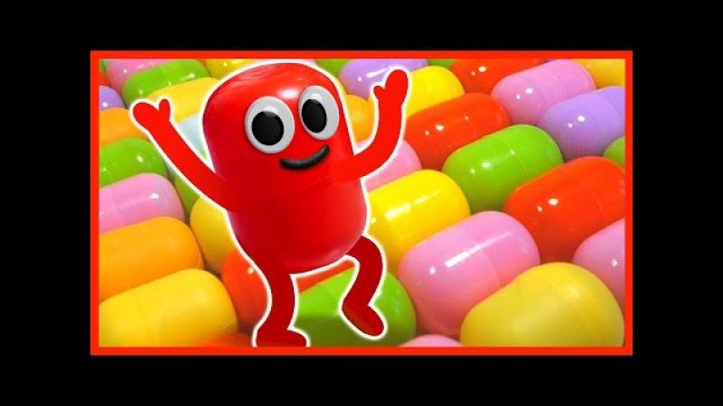 Живая капсула. Мультик. 100 КИНДЕР СЮРПРИЗОВ. 100 Surprise Eggs. Kinder Surprise.