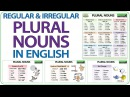 Plural Nouns in English - Regular Irregular Plurals