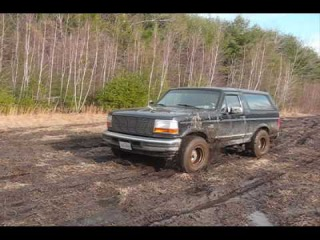 Part 1 4x4 Mudding with Ford Bronco Jeep Rubicon Toyota Tacoma in New England MUD