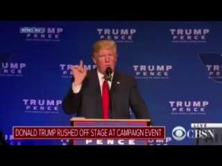 Трампа увели со сцены из-за тревоги на митинге в Неваде