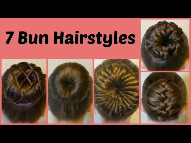 7 Ways To Make A Bun Using A Hair Donut Compilation! 1 Week Of Bun Hairstyles