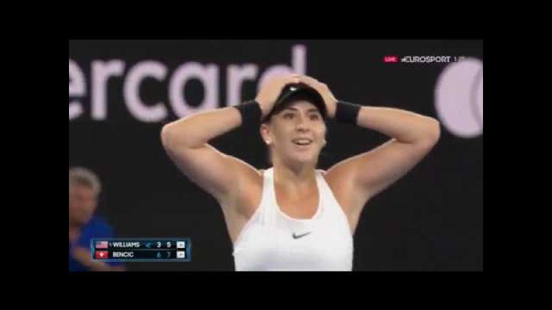 Белинда Бенчич vs Винес Уильямс - Australian Open 2018 первый круг, основные моменты