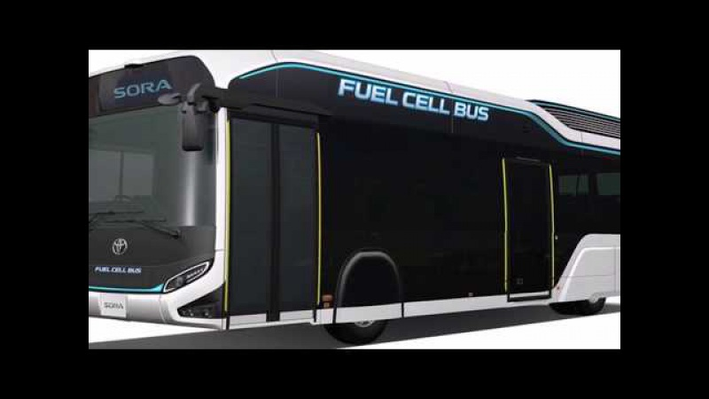 Toyota sora fuel cell bus