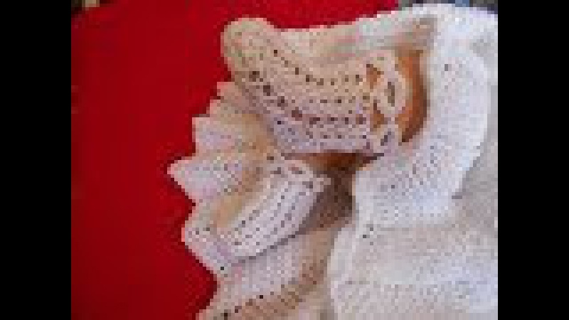 Zapatos para niño Dios a crochet con punto trigo o espiga y circulos