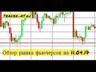 Обзор рынка фьючерсов на 11.04.17 - Индекс RTS, золото, сбербанк, SI, Нефть Brent
