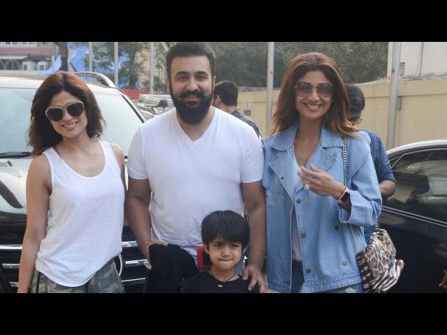 Shilpa Shetty Spotted With Her Family At PVR Cinemas JUHU | Raj Kundra, Shamita Shetty, Viaan Kundra
