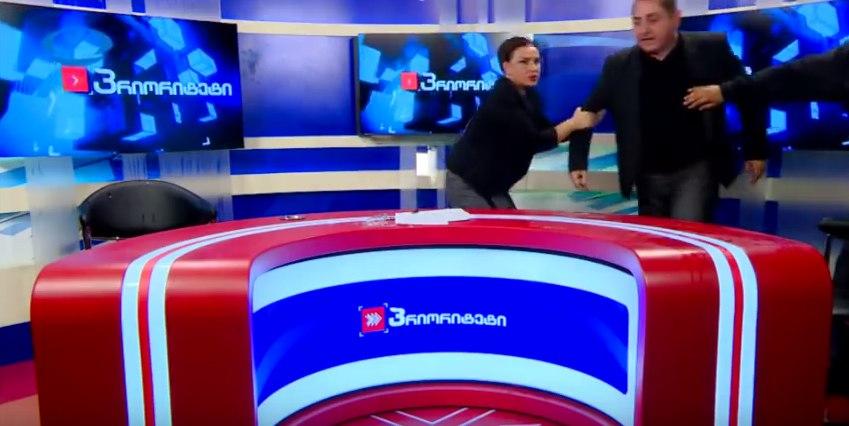 Грузинские политики в прямом эфире устроили драку из-за России