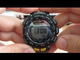 Casio PRG-240-1ER видео обзор и настройка