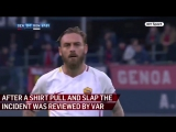 Daniele De Rossi suffered a moment of madness as he slapped Genoa forward Gianluca Lapadula and subsequently conceded a penalty