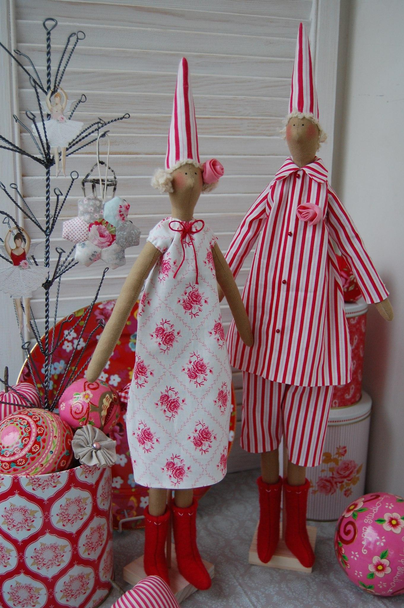 куклы тильда новогодние