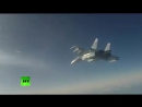 Пуск ракет класса «воздух-воздух» истребителями Су-35- вид из кабины пилота