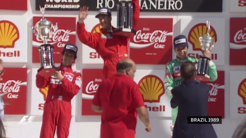 Подиум Гран-При Бразилии 1989