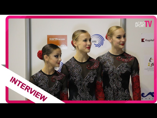 Interview with Lishova, Melamed, Melamed - Belarus - European Championship 2015 Riesa