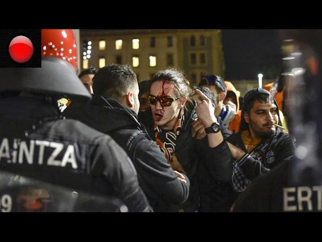 Ultras del Apoel y del Bilbao protagonizan graves altercados en San Mamés