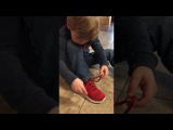 Coolest shoe tying trick ever!!! Posting to help anyone who is struggling like we were!