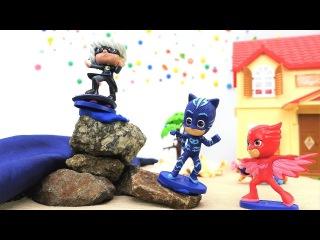 pJ Masks oyuncakları! pJ Masks kahramanları şehri su baskınından kurtarıyor. #erkekçocukvideoları