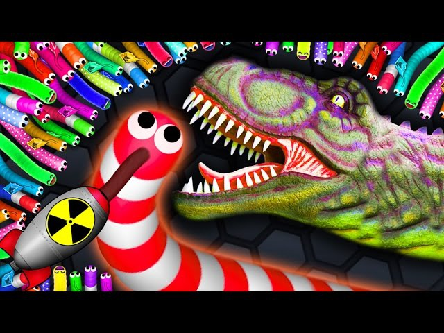 Slither.io - 1 NUCLEAR SNAKE vs 5500 MONSTER SNAKES Slitherio Gameplay! (Slitherio Funny Moments)