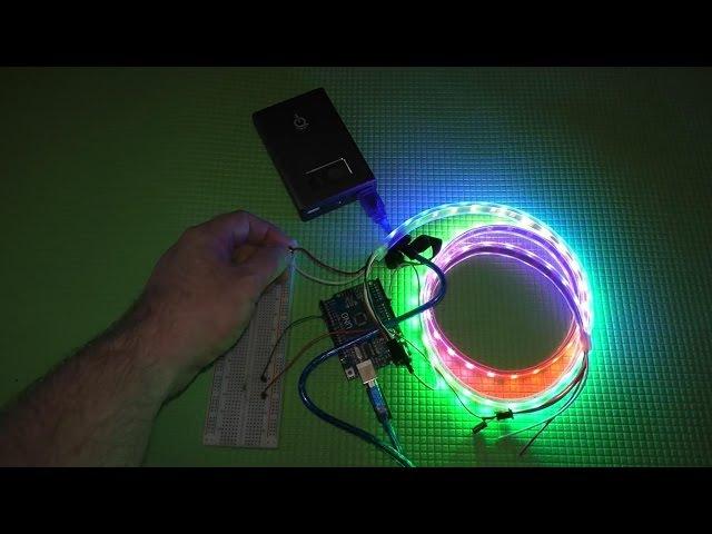 Светодиодная RGB лента ws2812b Neopixel подключение к Arduino