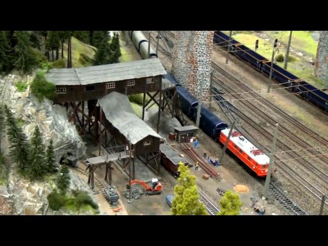Миниатюрная страна чудес в Гамбурге, крупнейшая модель железной дороги