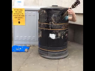 When you are stuck in a trash can but you still have to singstreetart music song Paris london LOL haha loop 100likes Vine comedy