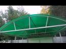 Автомобильный навес из поликарбоната 4х3 метра