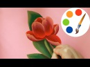 🎨🌷 How to paint a Tulip 🎨🌷, paint a flower, irishkalia