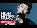 EXO - High Notes Live Vs Studio Comparision Vocal Line