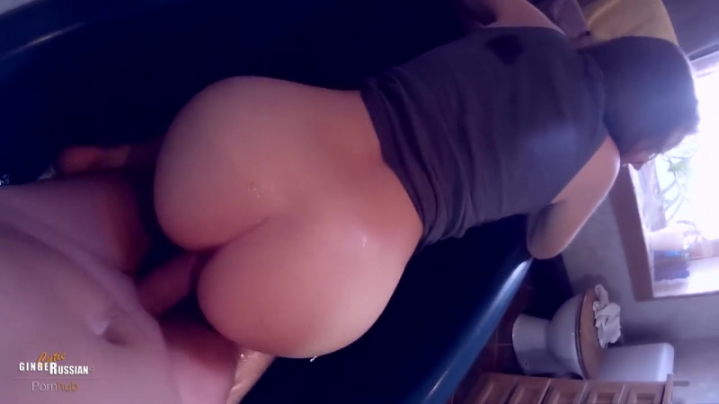 POV Fucking my Russian Teen Step Sister in the Bath till Creampie, Cutie Ginger